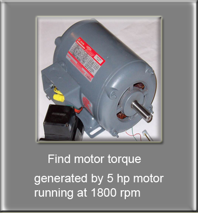 Personal calculator for 5 hp 1800 rpm motor
